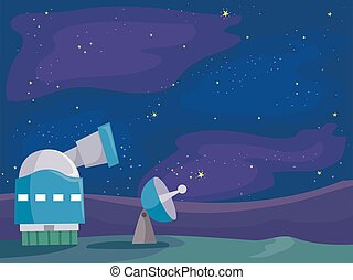Space Observatory Lab Illustration - Illustration of a Space...