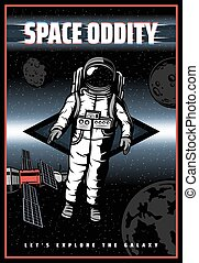 Space oddity, galaxy astronaut, planets satellites - ...