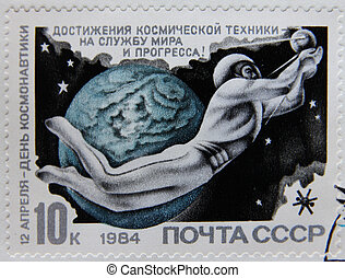 space on post stamp