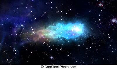 space orbit meteor air bursts blue