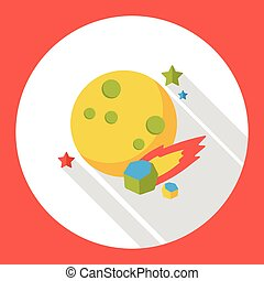 Space planet flat icon