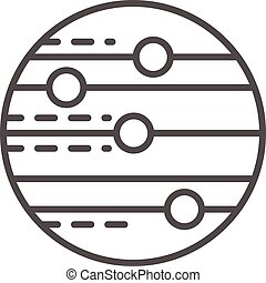 Space planet icon, outline style
