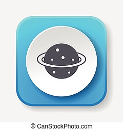Space planet icon