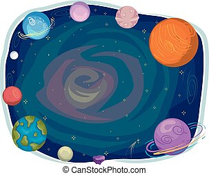 Space Planets Frame