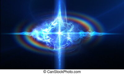 Space quasar - Active energy quasar in deep space