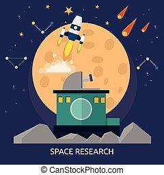 Space Research Conceptual illustration Design