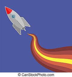 Space Rocket Flying