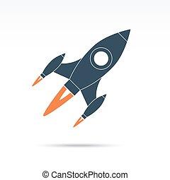 Space rocket icon. Vector illustration