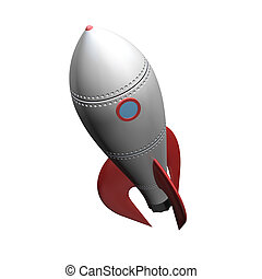 space rocket on white