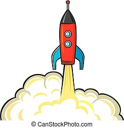 space rocket - startup concept