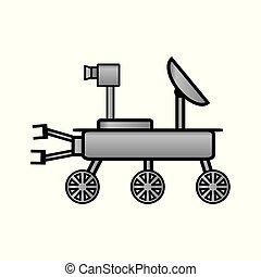 Space rover icon on white. - Space rover icon on white...