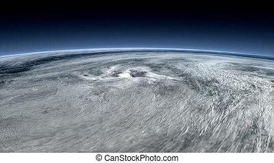 """space"""", """"satellite, typhon, vue, capturé"""