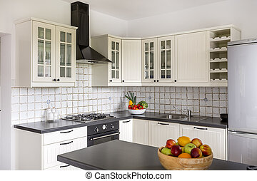 Space-saving solution for small kitchen idea