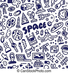 space - seamless background