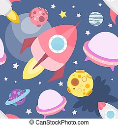 Space Seamless pattern