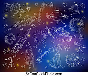 Space set color background