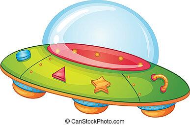 Illustration of a UFO on white