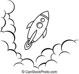 space ship rocket vector