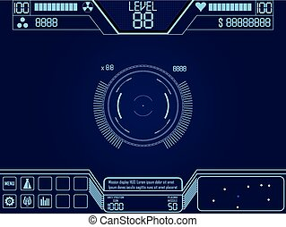 space shooter game ui - Vector elements for space shooter ...