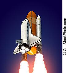 Space Shuttle. 3D Scene.