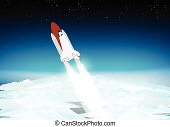 Space Shuttle Above the Clouds -