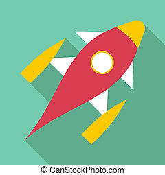 Space shuttle icon, flat style