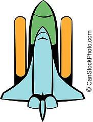 Space shuttle icon, icon cartoon