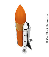 Space Shuttle Isolated