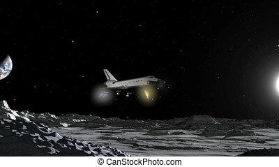 Space Shuttle Moon Landing CGI HD
