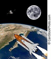 Space Shuttle Rocket Spaceship
