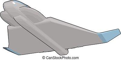 Space shuttle vector illustration on white background