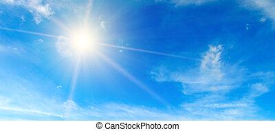 space., soleil, midi, bleu, illumine, clair, photo, sky.,...