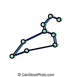 Space stars constellation vector design