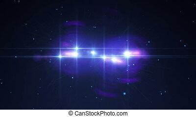 space stars light ray