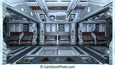 Space station - 3D CG rendering of a space station