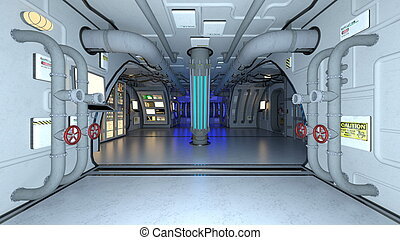 space station  - Image of inside space station