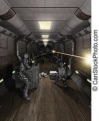 Space Station Corridor Battle