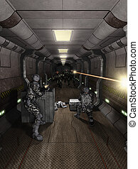 Space Station Corridor Battle