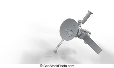 Space station in motion on white background HD 1920x1080