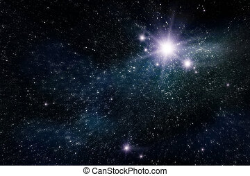 space - abstract space and star background