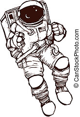 Space Suit - United States NASA astronaut wearing a space...