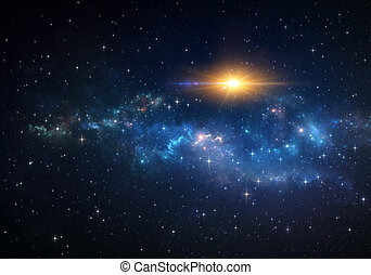 Space sunshine. Blast into deep space.