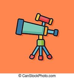 Space Telescope vector icon