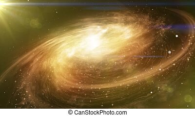 Space travel near big galaxy - Space travel near the big...
