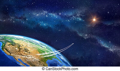 Space travel - Very high definition picture of planet earth...