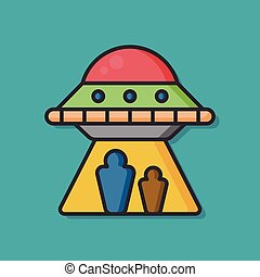 space ufo vector icon