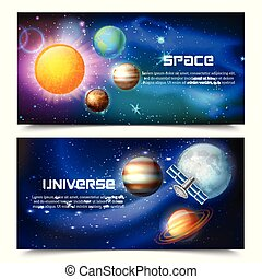 Space Universe Horizontal Banners