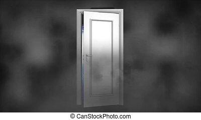 Space, universe. The open door to space - The open door to...