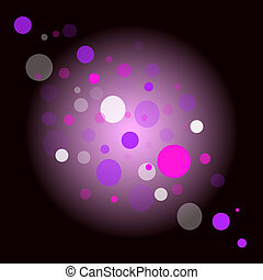 Space - vector abstract background