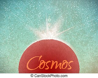 Space vector background with stars in vintage style....